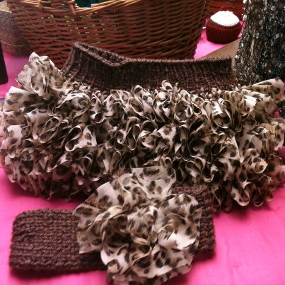 Animal Print Skirt and Headband